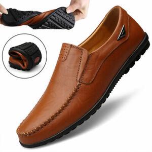Zapatos Para Hombre de Cuero Genuino Mocasines Calzados Planos Comodos