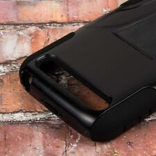 For BlackBerry Classic Q20 - HARD&SOFT RUBBER HYBRID ARMOR CASE BLACK KICKSTAND