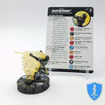 Heroclix NEW /& UNUSED!! Deathstroke 057 SUPER RARE! DC Rebirth