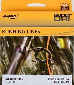 Airflo-Ridge-Running-Line-Floating-20-LB-Yellow-FREE-FAST-SHIPPING
