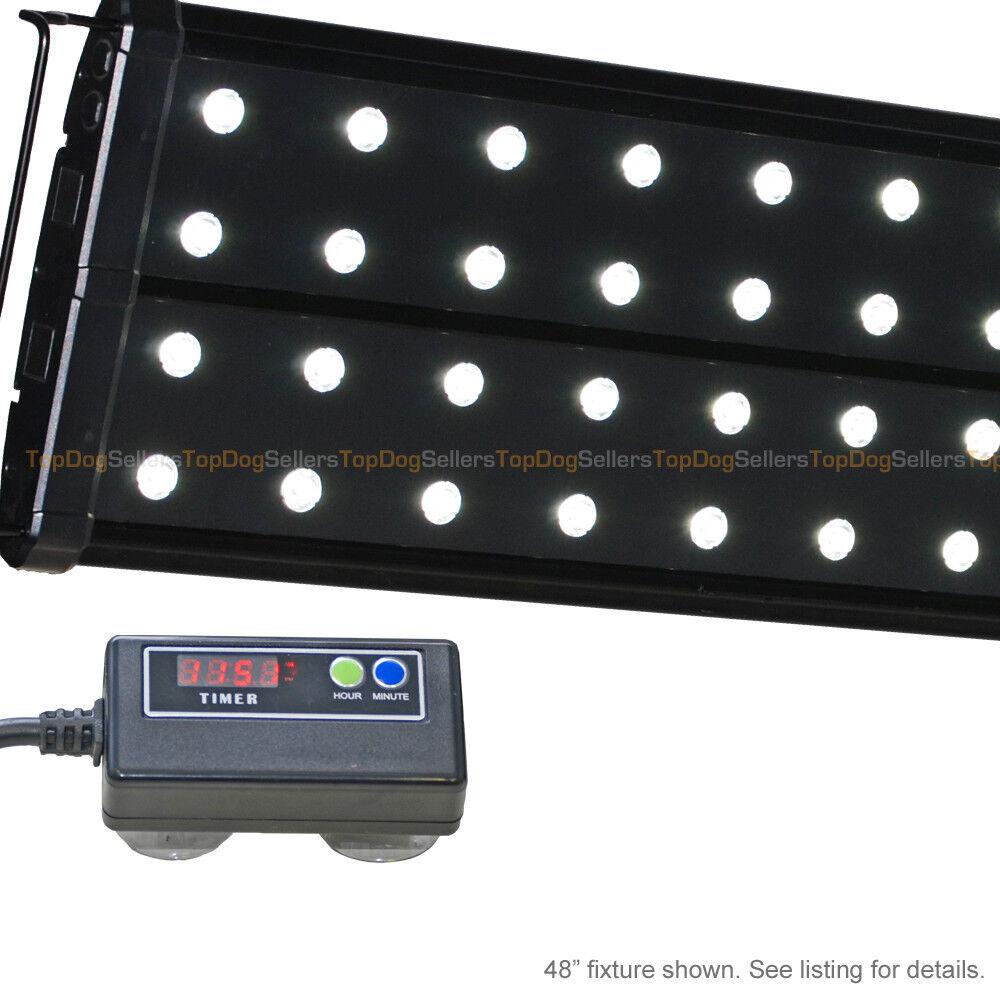 EVO Quad 48  Timer 6500K LED Aquarium Light Freshwater Plant Tetra Discus 64x 3W