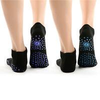 Pure Barre Ballet Yoga Pilates Socks-pack Of 2 Non-slip Grip Breathe Black