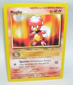 Pokemon-Card-Magby-23-111-Rare-1995-2000-Nintendo
