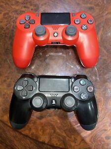 Playstation 4 Controller Rosso E Nero X 2