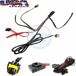 880 h8 h11 relay wiring harness kit for fog light hid. Black Bedroom Furniture Sets. Home Design Ideas