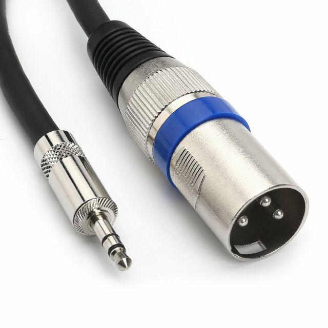 MOBOREST XLR a jack da 3,5 mm TRS stereo XLR maschio cavo microfono