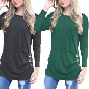 Autumn-Women-039-s-Loose-Long-Sleeve-Cotton-Casual-Blouse-Shirt-Tunic-Tops-Fashion