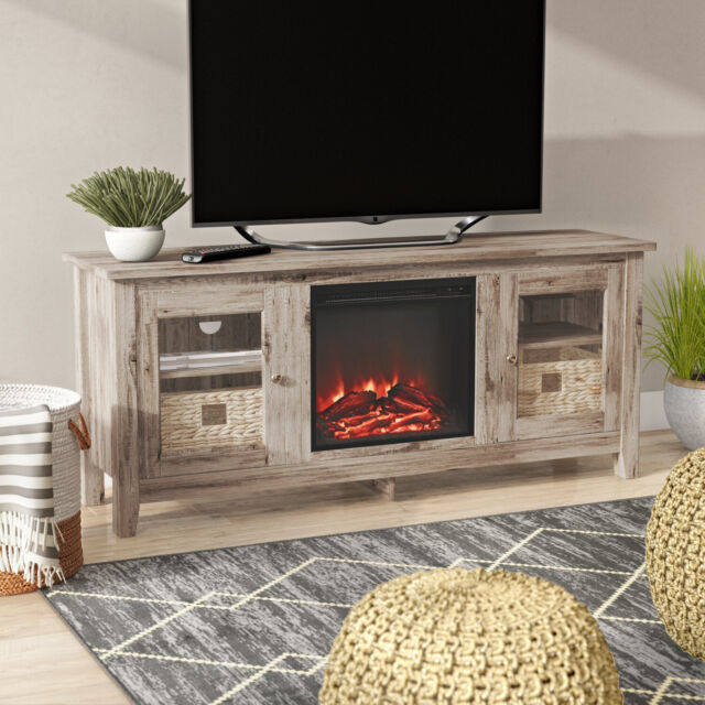 Enterprise Electric Fireplace Entertainment Center In Black For