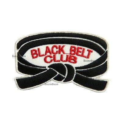2 pc BLACK BELT CLUB Patch for Taekwondo Karate Judo MMA Martial Arts Uniform