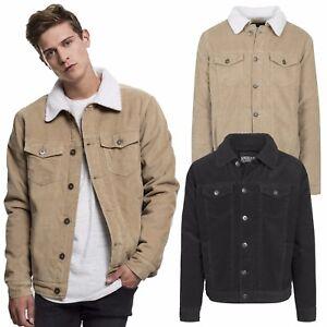 hohe Qualität besondere Auswahl an gehobene Qualität Details zu Urban Classics Herren Cord Jeansjacke Jeans Jacke Kragen  gefüttert Fell S - XXL