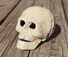 Cast Wrought Iron Skeleton Skull Head Bottle Drink Opener Halloween Prop Décor