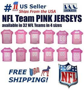 NFL-Pink-Jersey-for-DOGS-amp-CATS-32-Teams-amp-4-sizes-Licensed-Football-Jerseys