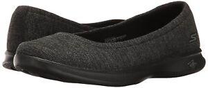 New-Skechers-Performance-Ladies-039-Black-Grey-Go-Step-Lite-Flats-Slip-On-Shoe-NIB