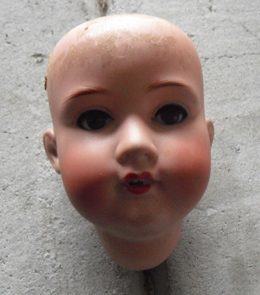 Vintage 1920s Armand Marseille Germany A3M 390 Bisque Girl Doll Head 4 1 2  Tall