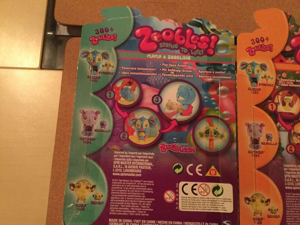 Andet legetøj, Zoobles og PET Shop figurer, Zoobles