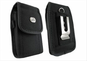 Vertical-Rugged-Heavy-Duty-Canvas-Case-Pouch-Belt-Clip-Cover-Cell-Phone-Holster