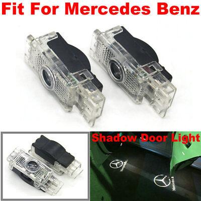 2x LED door courtesy laser projector lights For Mercedes Benz W203 W209 SLK CLK