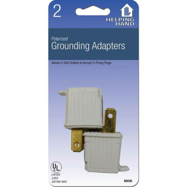 2 Pack Ground Plug Adapter 3 Prong To 2 Ac Electrical Outlet Grounding Polarized For Sale Online
