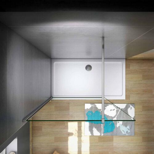 8//10mm NANO ESG Glas Walk in+30-160cm  Duschwand Duschabtrennungen Duschkabine