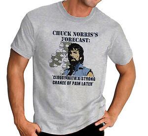 Chuck-Norris-039-s-Forecast-Fun-Martial-Arts-Karate-Grey-T-Shirt-Ideal-Gift
