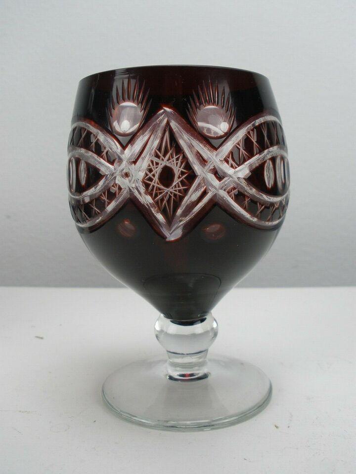 Glas, Bøhmisk Karaffel Med 5 Glas