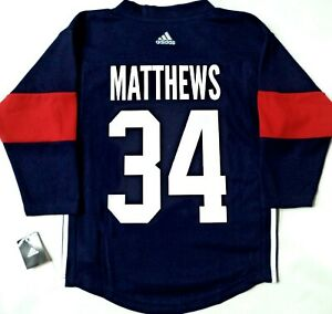 finest selection c20fc 88eae Details about KIDS 2-4T NWT AUSTON MATTHEWS TEAM USA LICENSED ADIDAS HOCKEY  JERSEY W/ PATCH