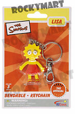 Simpsons LISA ( KEY CHAIN ) Bendable Figure Toy TV Show Zipper Pull LQQK RM1781