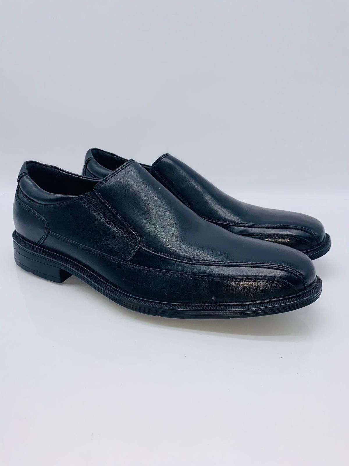Kenneth Cole New York Men Len Slip-On Shoes Black Leather US 9.5 EUR 42.5 #G-11