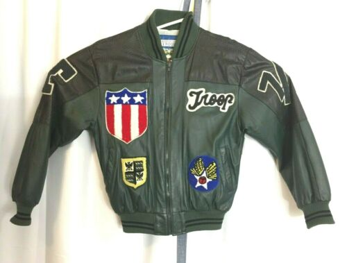 Vintage 80's World Of Troop 7/11 Double Lion Jacke
