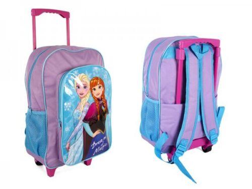 NUOVO Disney Kids Girls con Ruote Leggero Trolley da Viaggio Frozen Scuola Borsa