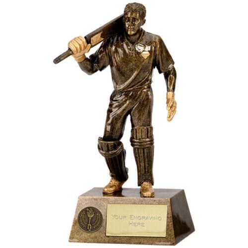 Cricket Trophy 3 tailles disponibles Gravé FREE BALL Résine batteur de 20//20 trophées