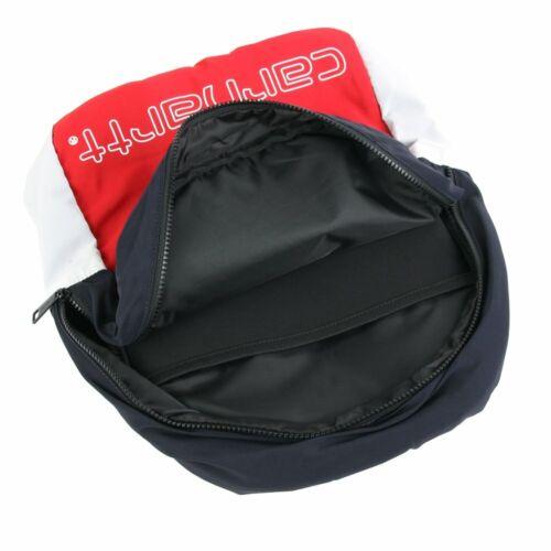 Carhartt WIP Terrace Backpack Cardinal Dark Navy White Rucksack Rot Blau Weiß