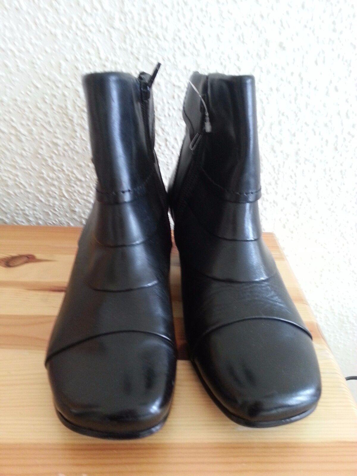 NEU Hush Puppies Damen Stiefel Gr 36 echt Leder warmfutter schwarz LP