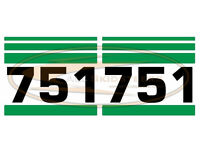 Bobcat 751 Side Decal Sticker Kit Skid Steer Loader Number With Stripes