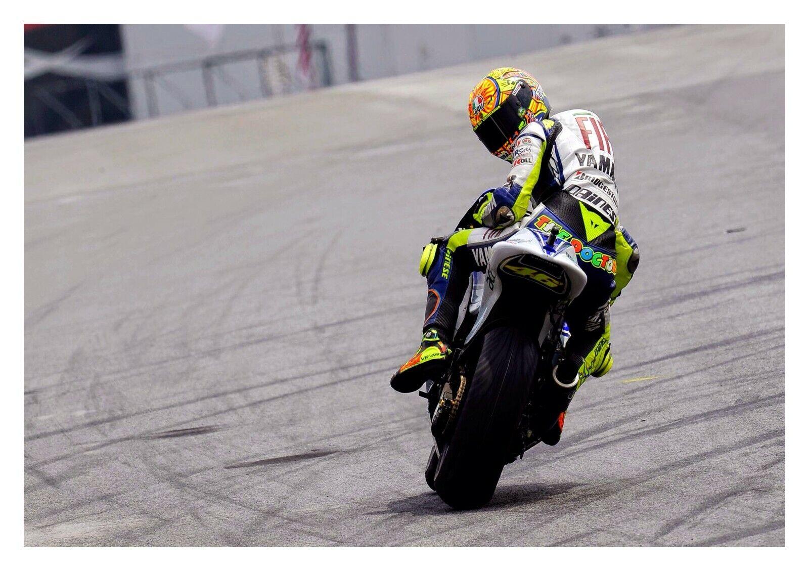 VALENTINO ROSSI-MOTO GP MOTO RACING LEGEND GRANDE POSTER FOTO SU TELA