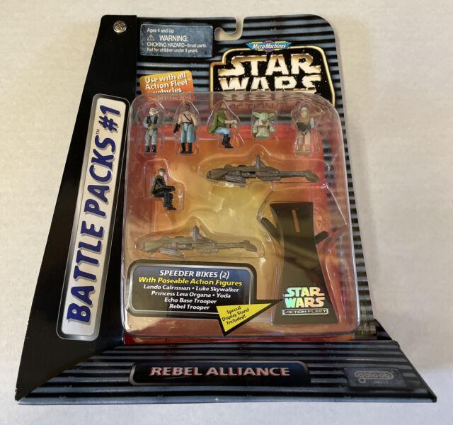 NEW Star Wars Micro Machines Rebel Alliance Battle Pack #1 Speeder Bikes 68010