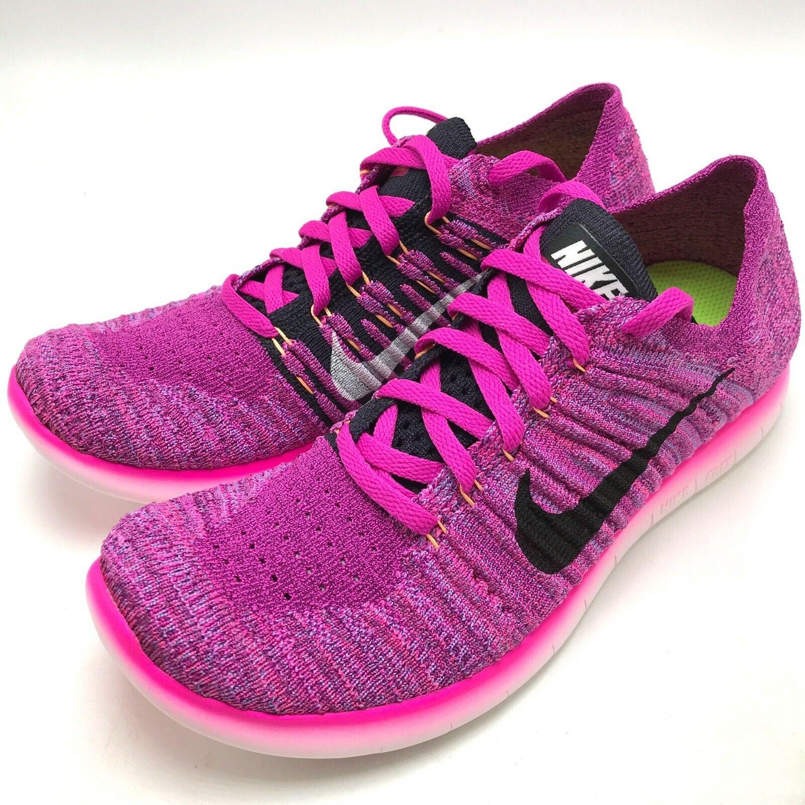 Nike Free RN Flyknit Women's shoes Fire Pink black 831070-601