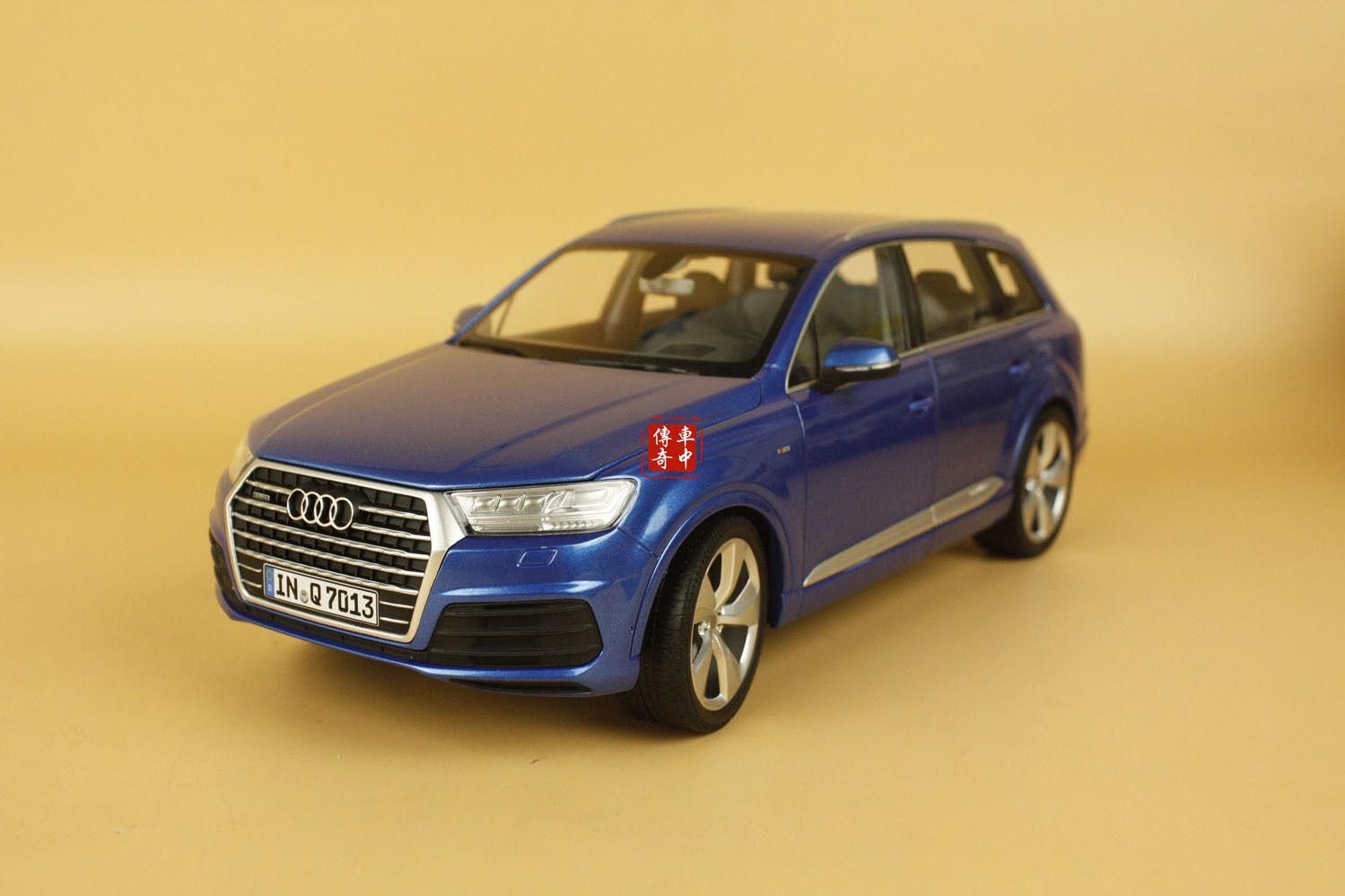 1 18 Almost Real Minichamps New Audi Q7 SUV 2015 blu Coloreee + gift