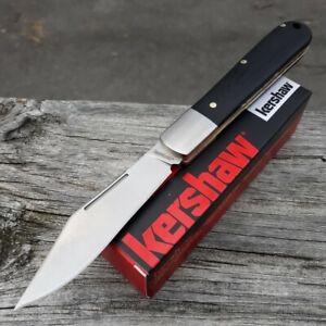 "Kershaw Culpepper Folding Knife Satin 7Cr17MoV Steel 3.0"" Blade Black G10 Handle"