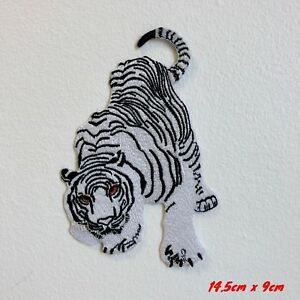 White Snow Tiger Iron Sew on Embroidered Patch#1847