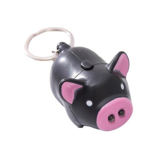 Schwein Schlüsselanhänger Mit Led Licht Animal Sound Keychain Geschenk Mode