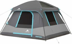Ozark-Trail-Dark-Rest-Cabin-Tent-6-Person-Family-Outdoor-Camping-Hiking-Shelter