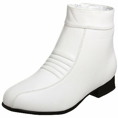 White Pimp Elvis Stormtrooper Ankle Boots - Extra Large Size UK13 - Great Value