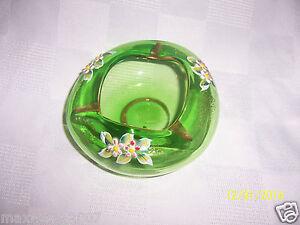 Vintage hand-blown glass ashtray