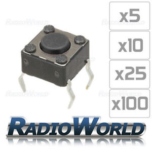 Momentary-Tactile-Switch-2mm-Button-PCB-Mount-SPST-New