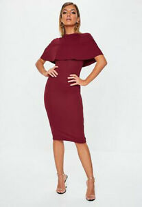 Missguided-Frill-overlay-Midi-Dress-size-4