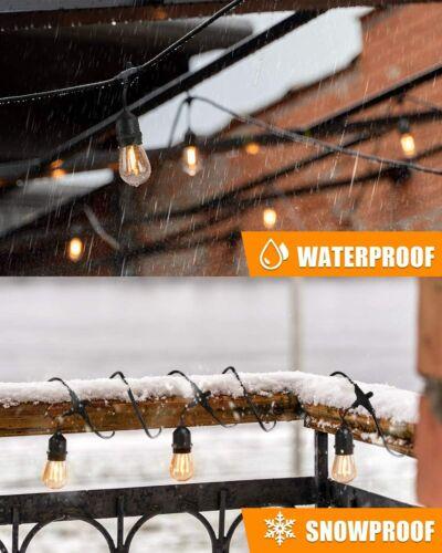 S14 LED Solar Lights Edison Bulb String Christmas Decor Lamps Yard Patio Garden