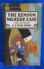 1954 THE BENSON MURDER CASE by S.S. Van Dine Paperback Fawcett T2006 GVG