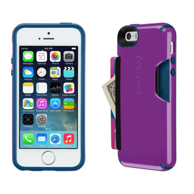 meet 2855c 23a7a Speck CandyShell Card Case for iPhone 5 5s Purple