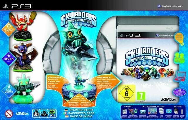 PS3 Skylanders Spyro Adventure Starter Pack AL/ANG dans l'emballage / Big Box ut